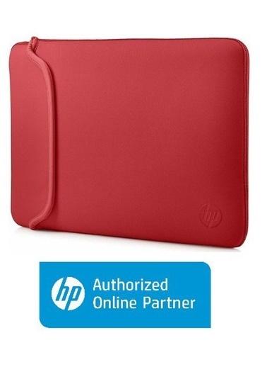 HP HP V5C26AA 14'' Neopren Çevrilebilir Notebook Kılıf Siyah-Kırmızı Renkli
